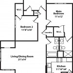 Madrona 3 Bedroom | 2 Bath 1230 sq ft - $ Call For Pricing
