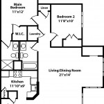 Willow 2 Bedroom | 2 Bath 1114 sq ft - $ Call For Pricing
